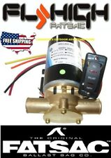 FATSAC FLY HIGH W610-P JABSCO PUPPY PUMP METAL WAKEBOARD BALLAST SAC WITH SWITCH