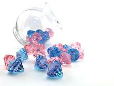 "1.5"" Acrylic Diamonds Baby Shower Decoration Gender Reveal DIY Hanging Decor LOT"
