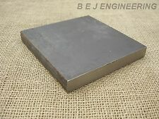 Black Steel Square Plate 150mm x 150mm x 20mm  Fixing-Mounting  - Mild Steel