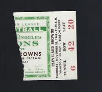 VINTAGE 1948 AAFC NFL CLEVELAND BROWNS @ LOS ANGELES DONS FOOTBALL TICKET STUB