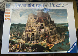 Ravensburger Puzzle 5000 Piece # 174232 Tower of Babel 40 X 60 Inches Genesis 11