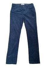 "Seasalt Blue Needlecord Trousers Size 12 L ""Lamledra"" Skinny Stretch Cord"