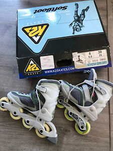 💕K2 Athena Womens Size 8 Breast Cancer Awareness Rollerblades With Box 👀