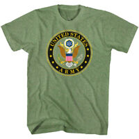 United States of America Army Eagle Seal Men's Men's T Shirt US Military Green