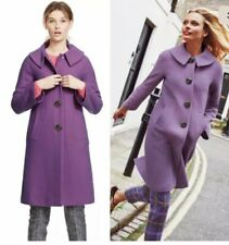 EUC Boden Purple Eliza Wool Coat US 12 NWT England Dress Evening Button Peterpan