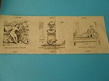 Caricature 1881 - Vignettes Salon Astruc Inventeur des capsules Médicamenteuses