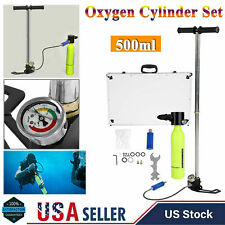 0.5L Mini Diving Scuba Cylinder Oxygen Air Tank w/Air Pump Underwater Breath Set