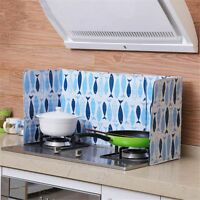 Kitchen Aluminum Foil Screen Oil Splash Cover Cooking Anti Splatter Guard