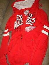 NHL DETRIOT RED WINGS ZIPPER SWEATSHIRT WITH HOOD RED P/S WOMEN