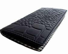 genuine leather vintage case for HTC One M7 book wallet handmade black cover new