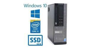 Dell Optiplex 9020 SFF Desktop Intel i5 4570 16G 240GB SSD Win10 Pro free wifi