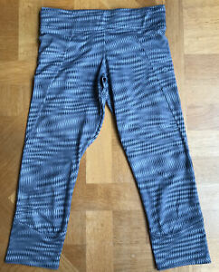 decathlon 3/4 Active Leggings Good Condition Grey XS With Inner Pocket