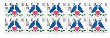 Scott #2441....25 Cent...LOVE BIRDS...Booklet Pane With 10 Stamps