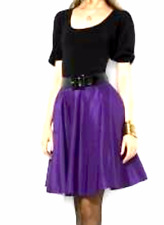 NWT Ralph Lauren Blue Label Boyer Taffeta Skirt in Jewel Purple SZ 8 RET $698