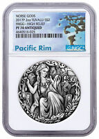 2017-P Tuvalu Norse Goddesses Frigg HR 2 oz Silver Antiqued $2 NGC PF70 SKU51540