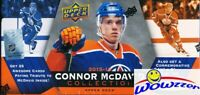 15/16 UD Connor McDavid Collection Factory Sealed Box-25 ROOKIE Cards+JUMBO RC!