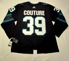 LOGAN COUTURE size 54 XL - San Jose Sharks ADIDAS alt Stealth jersey PRO CUSTOM