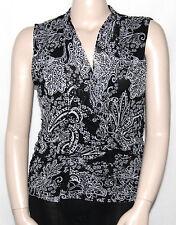 NEW Style & Co. Plus Size 0X Sleeveless Surplice Neckline Printed Draped Top