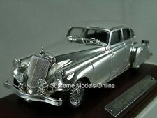 PIERCE SILVER ARROW MODEL CAR 1/43RD SCALE MINT PACKED PLATED FINISH /=/