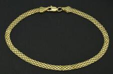 14k Yellow Solid Gold Bismark-Link Bracelet 3.2mm 7'' - 7.5''