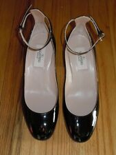 "VALENTINO ""TANGO"" BLACK PATENT LEATHER ANKLE STRAP PUMP NIB SZ 35(5)"