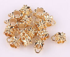 100pcs gold plated big hole spacer beads fit Charm European Bracelet ARS542