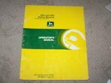 John Deere Used S80 & S82 Riding Mower Ser # 285001 & Up Operators Manual B19