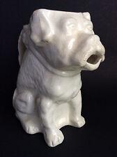 Antique ceramic figural  bulldog pitcher old vintage pottery dog