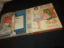 Vintage Magic Mary Lou Milton Bradley Paper Doll 1962 Boxed Set (F410)