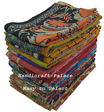 Vintage Kantha Quilt Reversible Throw Handmade Bedspread Blanket MANY TO SELECT