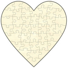 Blanko Holz-Puzzle Herz, 40 Teile, 19x19 cm, zum Selbst Bemalen und Gestalten
