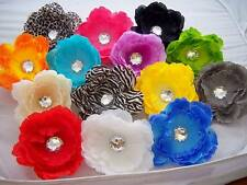 WHOLESALE PICK ONE baby girls GERBERA daisy HAIR BOW peony FLOWER clip PIN UP