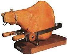 Morsa per prosciutto in acciaio inox con supporto e manici legno professionale