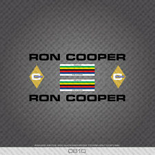 0810 Ron Cooper Bicycle Stickers - Decals - Transfers - Black