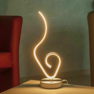 Lampada LED moderna da tavolo 9W lume curvo luce comodino arredamento interni