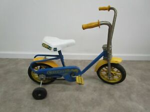 Vintage Hedstrom child mini bike bicycle with training wheels no brakes toddler