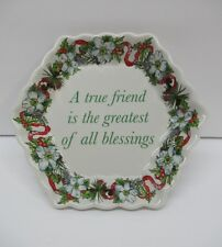 "Spode Porcelain Holidays True Friend 2007 Gift 5"" Octagon Trinket Ring Dish Tray"