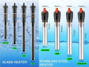 Submersible Fish Tank Aquarium Heater Thermostat Thermometer 25W upto 500W