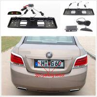 European Number Plate Holder With Parking Sensor Reversing Radar LED Display Kit