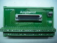 AMPHENOL 20-51039 BREAKOUT CONNECTOR BLOCK 50 POINT DIN MODULE