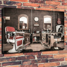 "Vintage Barbers, Barbershop Printed Canvas Picture A1.30""x20"" x 30mm Deep"
