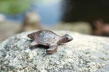 Gusseisen Schildkröte Metall braun Garten Deko Figur Teich Skulptur