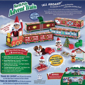 Xmas Elf On The Shelf North Pole Christmas Advent Calendar Train Countdown Gift
