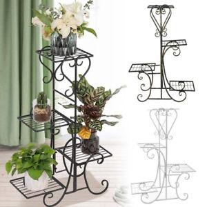 4 Tiers Metal Plant Stand Flower Pot Rack Shelf Holder Display Garden Decor Home