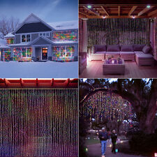 LED Concepts Curtain String Icicle Fairy Lights-300 LED (Multi-color)