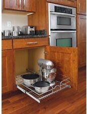Kitchen Pull-Out Wire Sliding Basket Rack Cabinet Storage Organizer Drawer Shelf
