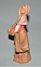 Fontanini Nativity figure, Rachel w fruit basket, Christmas 7.5 in. #52847 Nib