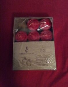 Mega Candles Unscented Votive Candles Red Set of 11 Was Set Of 12 One Missing