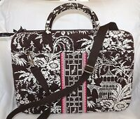 VERA BRADLEY Laptop Portfolio Case w/ strap - IMPERIAL TOILE - Perfect Condition