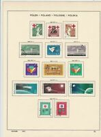 poland 1959 space + 1857 united nations, + other stamps page ref 17280